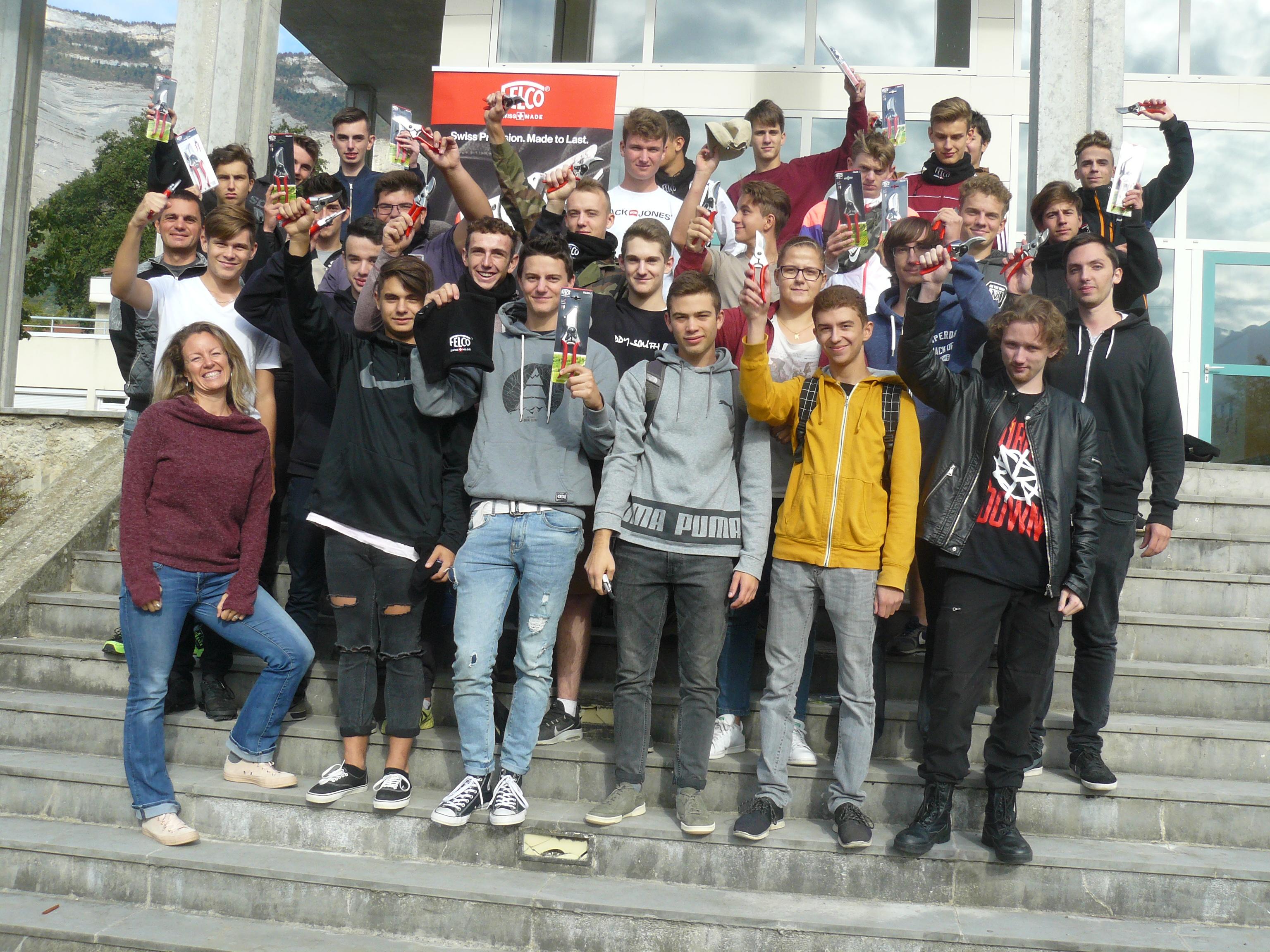 Les lauréats 2018 de Grenoble St Ismier ont gagné chacun un sécateur et une formation à la sécurité, offerts par la firme Felco !